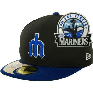 Seattle Mariners New Era MLB Cooperstown Patch 59FIFTY Cap