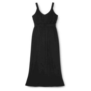Merona Womens Plus Size Sleeveless V Neck Maxi Dress   Black 4