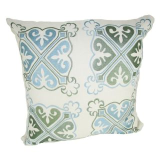 Design Accents Arabic Medallion Pillow   Blue   NSG36357 ARABICMEDALLION20X20