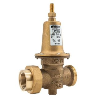 Watts 1/2 LFX65B Valves, 1/2 Pressure Reducing NPT Threaded Female Inlet x NPT Female Outlet Lead Free