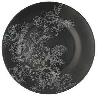 Jaclyn Smith Toile Salad Plate, Fine China Dinnerware   Today,Black,White Floral
