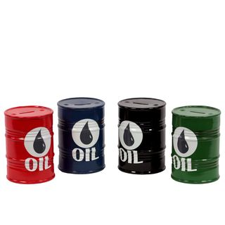 Ceramic Oil Barrel Money Banks (set Of 4) (4.5 inches diameter x 6 inches tallFor decorative purposes onlyDoes not hold water CeramicSize 4.5 inches diameter x 6 inches tallFor decorative purposes onlyDoes not hold water)