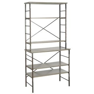 Safavieh Brooke Ash Grey Etegere (Ash grey Materials: Iron and elm woodDimensions: 77.2 inches high x 36.6 inches wide x 18.1 inches deepThis product will ship to you in 1 box.Assembly required )