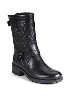 Aquatalia by Marvin K Sweetness Quilted Leather Mid Calf Boots