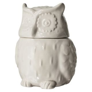 Threshold Stoneware Figural Owl Cookie Jar   White