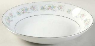 Chadds Ford Cotillion Coupe Soup Bowl, Fine China Dinnerware   Pink, Blue & Whit