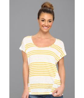 Lucky Brand Arianna Dolman S/S Top Womens Short Sleeve Pullover (Yellow)