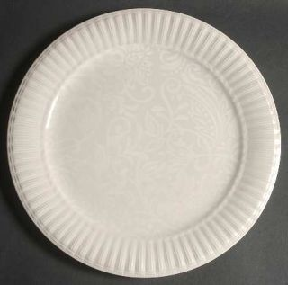 Biltmore for Your Home Estate Damask Dinner Plate, Fine China Dinnerware   White