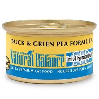 Limited Ingredient Diets Duck & Green Pea Formula Canned Cat Food, Case of 24