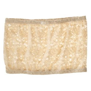 Miss Oops Womens Lace Bandeau Tube   Beige S/M