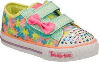 Infant/Toddler Girls Skechers Twinkle Toes Shuffles Jumpin Jigsaw   Multi Veget