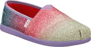 Infant/Toddler Girls Skechers BOBS World III Glitterbug   Silver/Purple Alparga