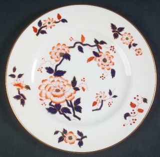 Crown Staffordshire Imari Coral Salad Plate, Fine China Dinnerware   Orange & Na