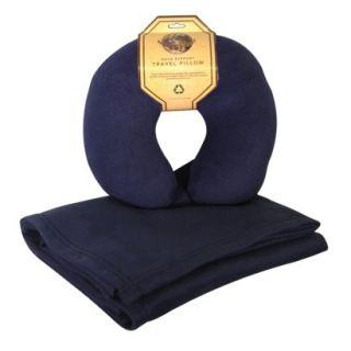 Navy Fleece Blanket/Pillow Combo