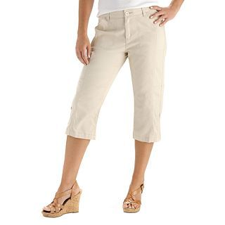 Lee Brittany Roll Up Cropped Pants, Driftwood, Womens