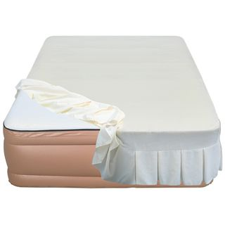 Airtek Raised 22 inch Queen size Memory Foam Airbed With Skirted Sheet Cover