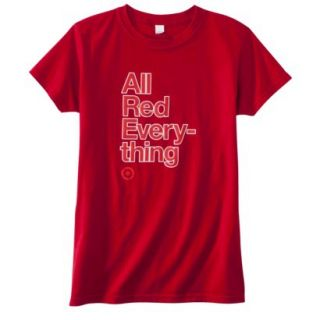 Womens Fitted All Red Everything T Shirt   XL