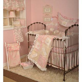 COTTON TALES Cotton Tale Heaven Sent Crib Bumper, Cream/Pink, Girls