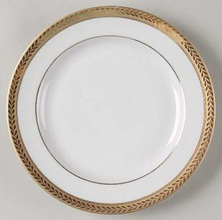 Block China Manchester Gold Salad Plate, Fine China Dinnerware   Gold Encrusted