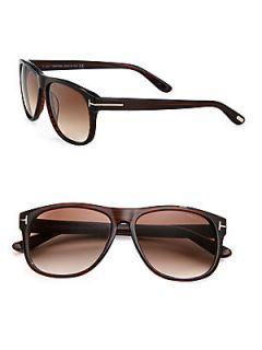 Tom Ford Eyewear Olivier Plastic Sunglasses   Brown