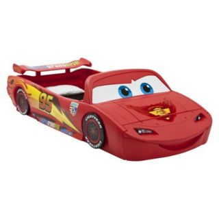 Toddler Bed Disney/Pixar Cars Toddler to Twin Bed with Lights and Toy Box