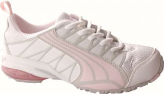 Girls PUMA Voltaic   White/Heavenly Pink/Gray Violet Cross Training Shoes
