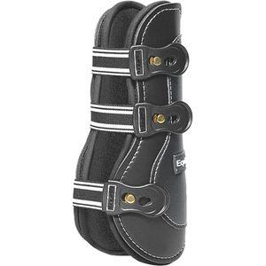 Equifit Exp2 Button Closure Open Front Horse Boots Black/white S/m