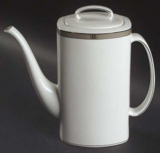 Lenox China Noel Platinum Coffee Pot & Lid, Fine China Dinnerware   Kate Spade,