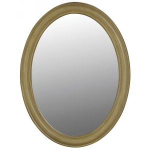 Belle Foret BF80043 French Country 33 In. X 25 In. Framed Oval Mirror In Antique