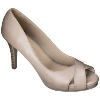 Womens Xhilaration Angela Peep Toe Pump   Blush 5.5
