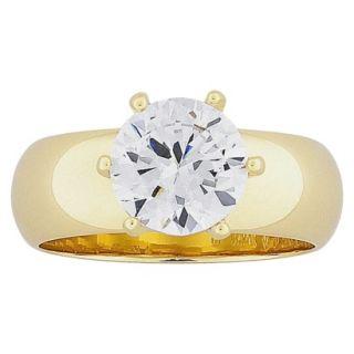 Brilliant CZ Wide Band Wedding Ring