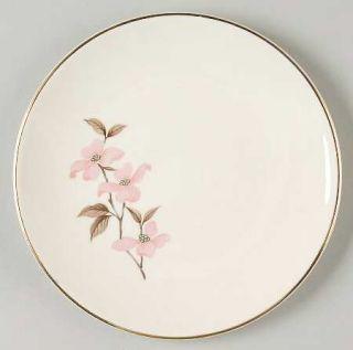 Edwin Knowles Pink Dogwood (Gold Trim) Bread & Butter Plate, Fine China Dinnerwa