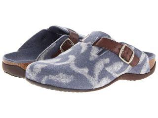 VIONIC with Orthaheel Technology Flores Textile Mule Womens Clog/Mule Shoes (Blue)