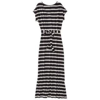 Merona Petites Short Sleeve V Neck Maxi Dress   Black/Cream XXLP