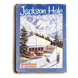 Artehouse 14 x 20 in. Jackson Hole Wyoming Wood Sign Multicolor   0002 4646
