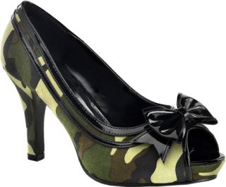Womens Funtasma Soldier 03X   Green Camouflage/Black Casual Shoes