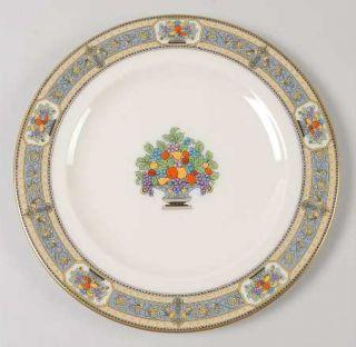 Morgan Belleek (USA) Orient Luncheon Plate, Fine China Dinnerware   Blue & Yello