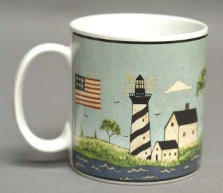 Sakura Coastal Breeze Mug, Fine China Dinnerware   Warren Kimble,Lighthouse,Ship