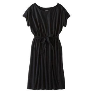 Merona Womens Knit Belted Dress   Black   XXL