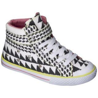 Girls Xhilaration Garalee High Top Sneakers   Black/White 5