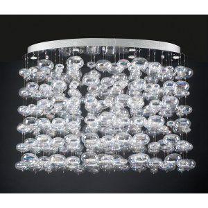 PLC Lighting PLC 96969 PC Bubbles Chandelier / 6 Light Halogen 120v. 50W