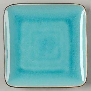 Ty Pennington Style Bali Hai Square Salad Plate, Fine China Dinnerware   Blue In