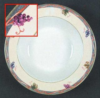 Interiors (PTS) Tuscan Country Large Rim Soup Bowl, Fine China Dinnerware   Grap