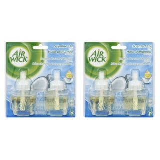 AIR WICK Scented Oils   WHITE LILACS, 1.35 Ounces, 2 Pack