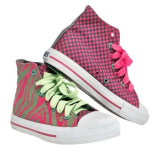 Girls Xolo Shoes Hot Z High Top Canvas Sneakers   Pink 2