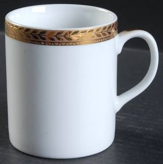 Block China Manchester Gold Mug, Fine China Dinnerware   Gold Encrusted Laurel B