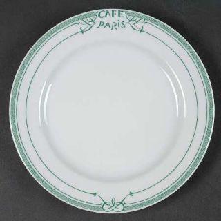 Bernardaud Cafe Paris Green Salad Plate, Fine China Dinnerware   Residence,Green