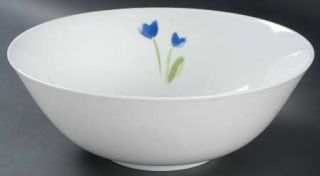 Crate & Barrel AnnaS Artistry 9 Round Vegetable Bowl, Fine China Dinnerware