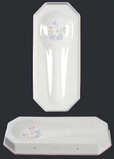 Sarma Studios Victorian Flowers Spoon Rest/Holder (Holds 1 Spoon), Fine China Di