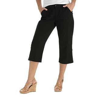 Lee Brittany Roll Up Cropped Pants, Black, Womens